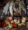 fishes wine fruit