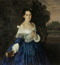 lady in blue portrait of ye m martynova