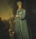 portrait of catherine ii empress of russia in the park
