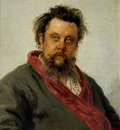 portrait of m p musorgsky
