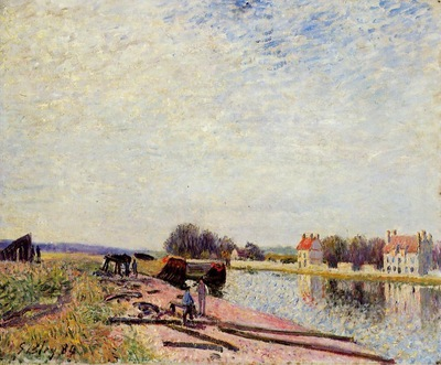 Barges on the Loing Saint Mammes