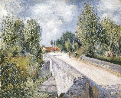Bridge over the Orvanne near Moret