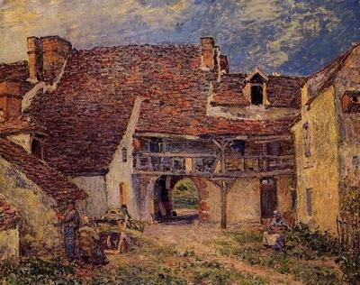 Courtyard of a Farm at Saint Mammes
