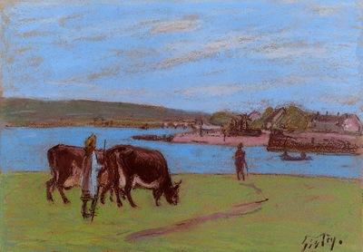 Pasture by the Seine
