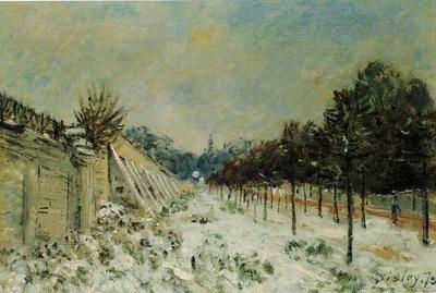 Snow at Marly le Roi