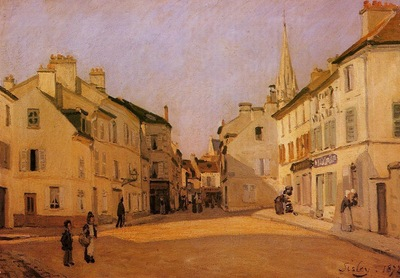 Square in Argenteuil (also known as Rue de la Chaussee)
