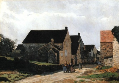 Street of Marlotte (also known as Women Going to the Woods)