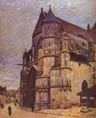 The Church at Moret Winter