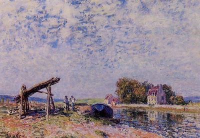 The Loing Canal at Saint Mammes