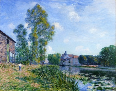 The Loing at Moret in Summer