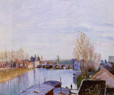 The Loing at Moret the Laundry Boat