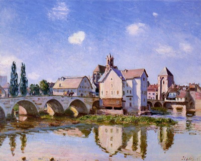 The Moret Bridge in the Sunlight