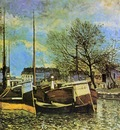 Barges on the Saint Martin Canal