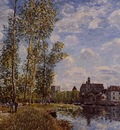 Moret View from the Loing May Afternoon