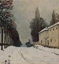Snow on the Road Louveciennes (aka Chemin de la Machine)