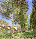 The Lane of Poplars at Moret Sur Loing