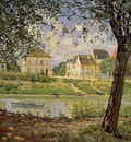 Village on the Banks of the Seine (also known as Villeneuve la Garenne)