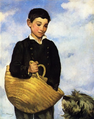 boy with dog 1860