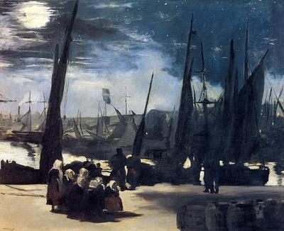 moonlight over bologne harbor
