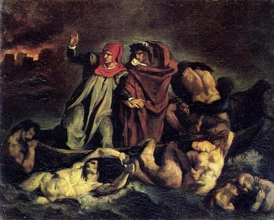 the barque of dante after delacroix