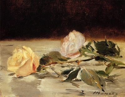 two roses on a tablecloth 1882