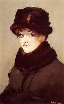 woman in furs portrait of mery laurent