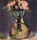 mosee roses in a vase