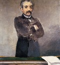 portrait of clemenceau at the tribune 1879