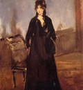 young woman with a pink shoe also known as portrait of bertne morisot