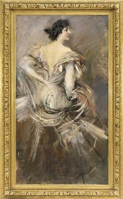 signora bruna in abito da sera 1892