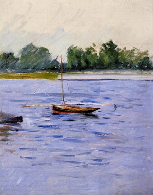 boat at anchor on the seine 1890