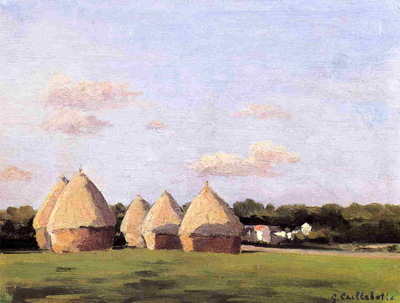 Harvest Landscape with Five Haystacks