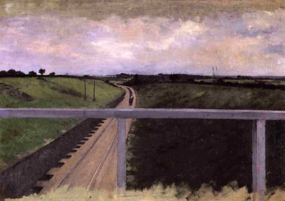 landscape with railway tracks