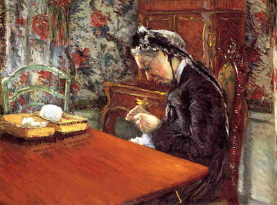 portrait of madame boissiere knitting