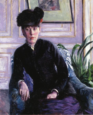 portrait of a young woman in an interior  also known as portrait of madame h