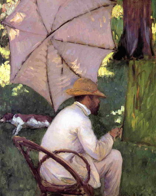 the painter under his parasol