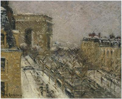 Arc de Triomphe in the Snow