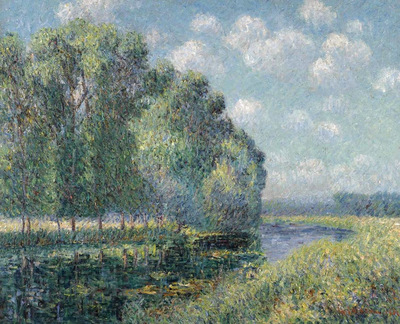 By the Eure River in Spring