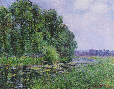 by the eure river in summer
