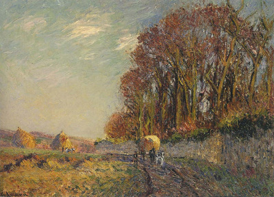 Cart in an Autumn Landscape