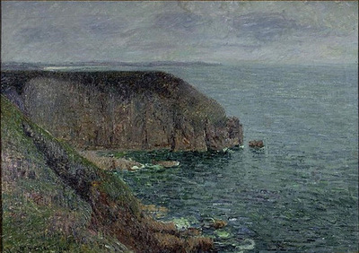 Cliffs in Gray Weather