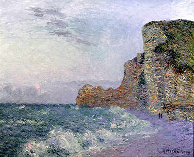 cliffs in normandy evening
