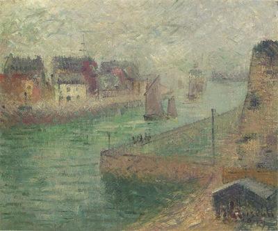 Port at Dieppe in Fog