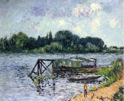 the laundry boat on the seine at herblay