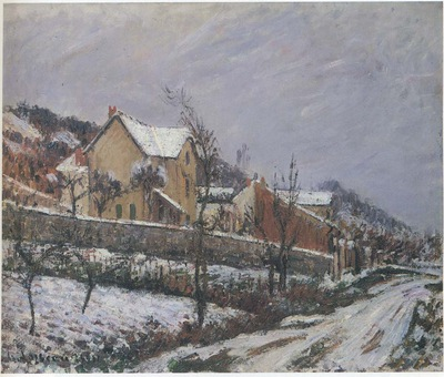 village in snow