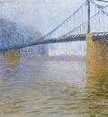 suspended bridge at triel