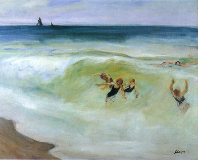 Bathers in the Sea