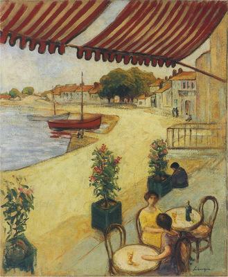 Cafe de l hotel nolleau seyrat, sur le quai carnot a l ile d yeu en france