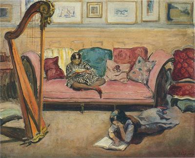 Interior with Harp