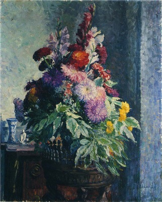 Interior with a bouquet of flowers